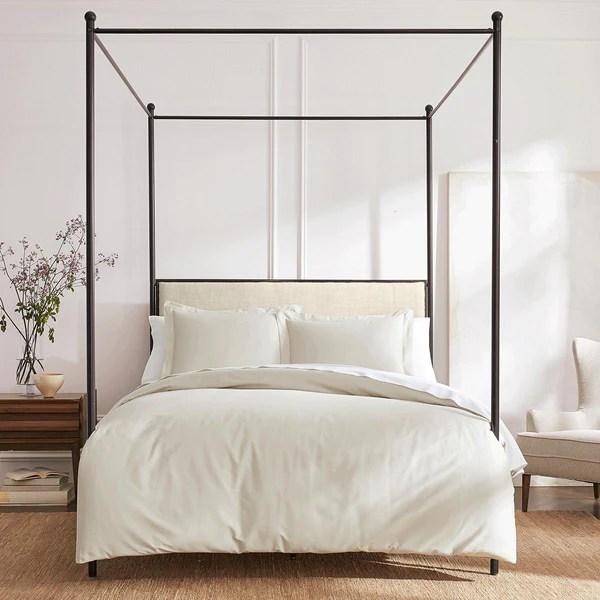 organic cotton bedding under the canopy