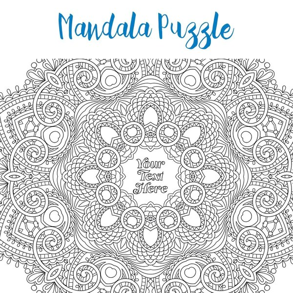 Pieceful Puzzle Personalised Adult Colouring Jigsaw