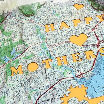 HD Decor Images » USA Map Gifts   Butler and Hill US Jigsaw Puzzle   Mother s Day Personalized US Map Puzzle