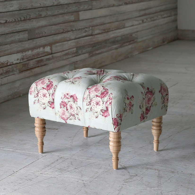 Shabby Chic Furniture - Fifi Tufted Ottoman