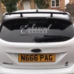 Enhanced Nation Rear Windscreen Sticker Car Enhancements Uk