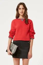 Jewel Sweatshirt With Stripe