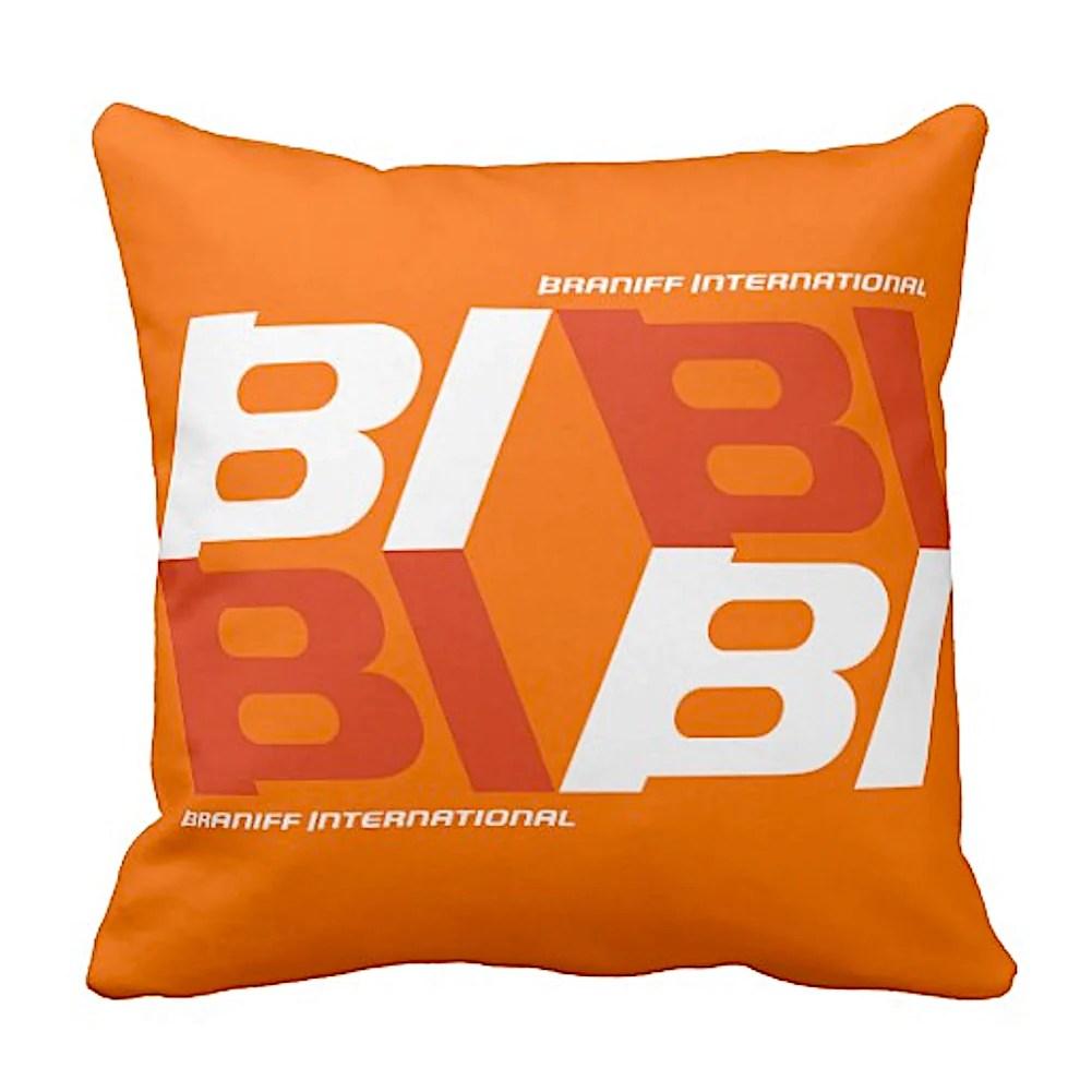 pillow braniff alexander girard design bi tile logo multiple colors