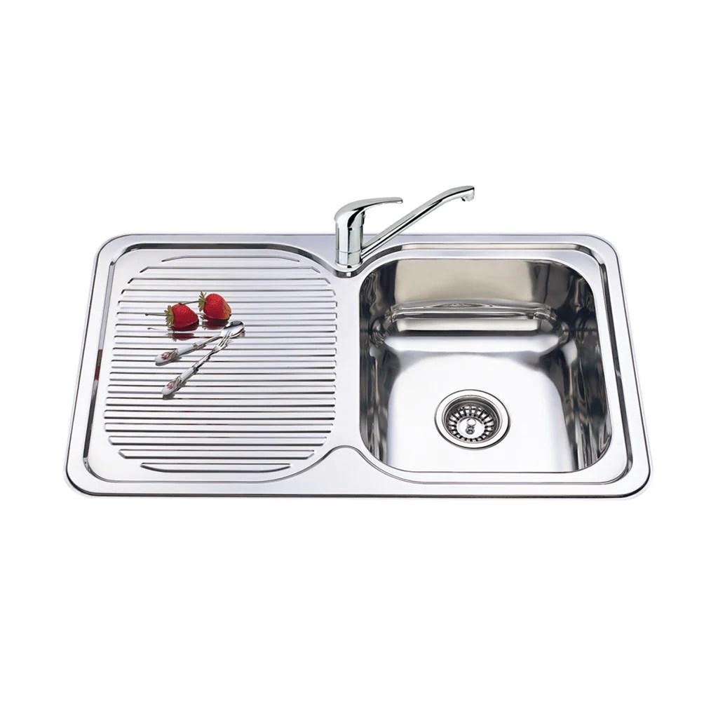 single bowl sink l h drainer