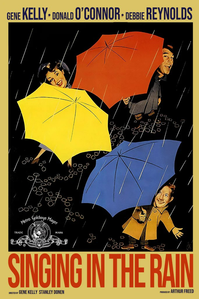 singing in the rain movie alternative poster