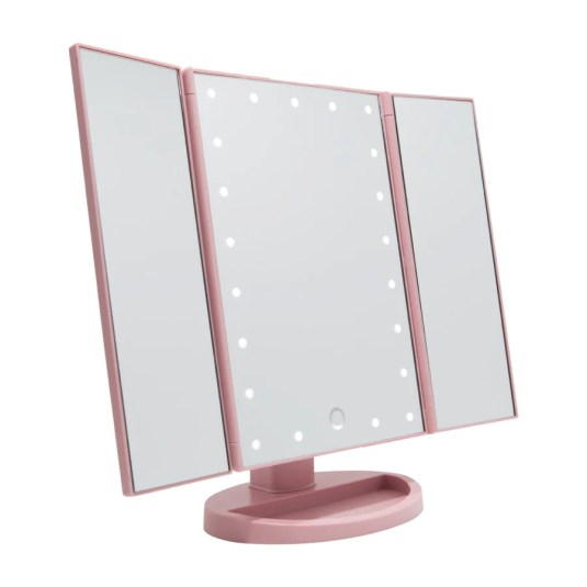 Touch Trifold Dimmable LED Makeup Mirror