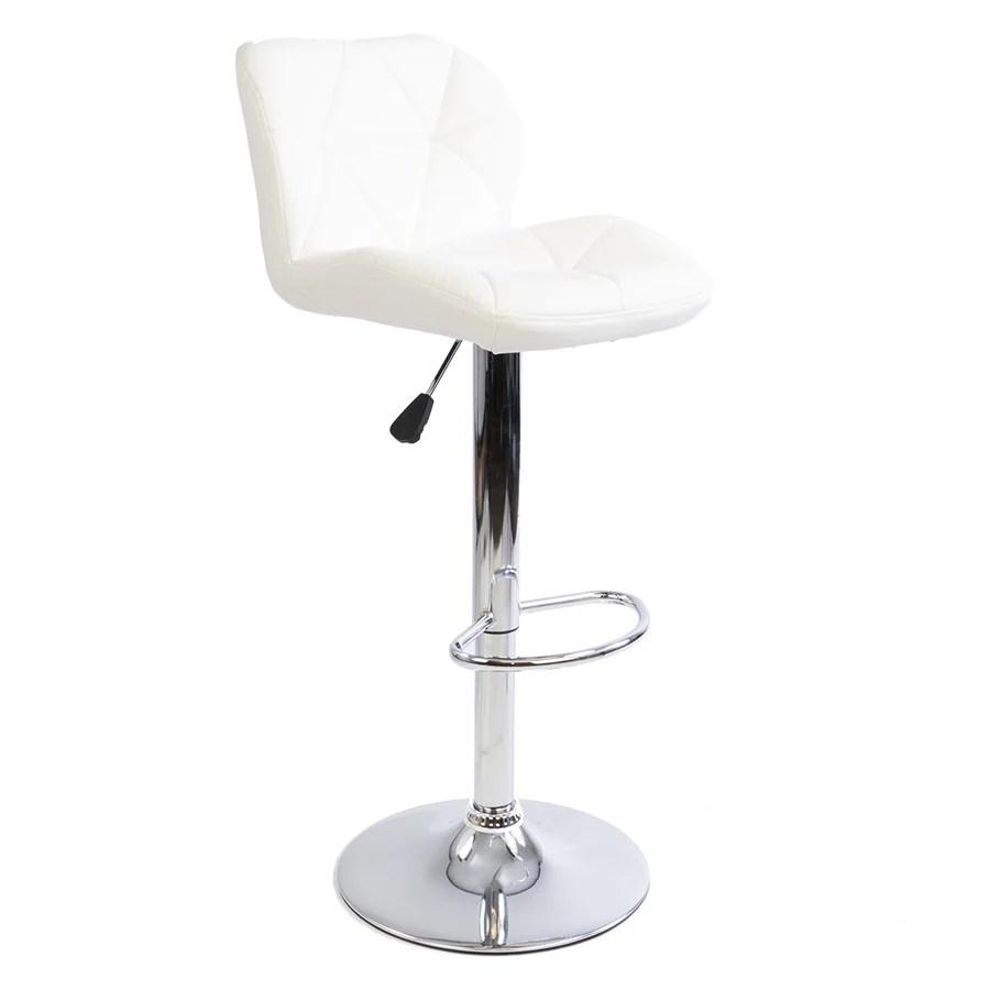 geneva geo quilted vanity stool