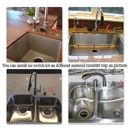 sink top air switch kit garbage disposal part built out adapter switch brushed chrome by cleesink