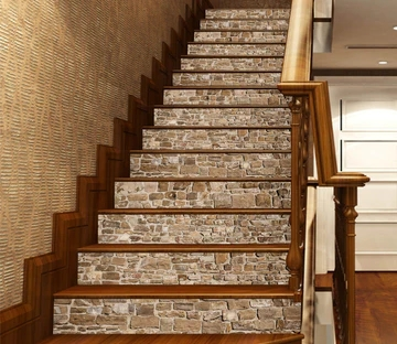 Stair Risers Murals Decals U S Delivery Aj Wallpaper | Tile Risers On Wood Stairs | Stair Tread | Decorative | Wood Finish | Stair Outdoors | Wooden