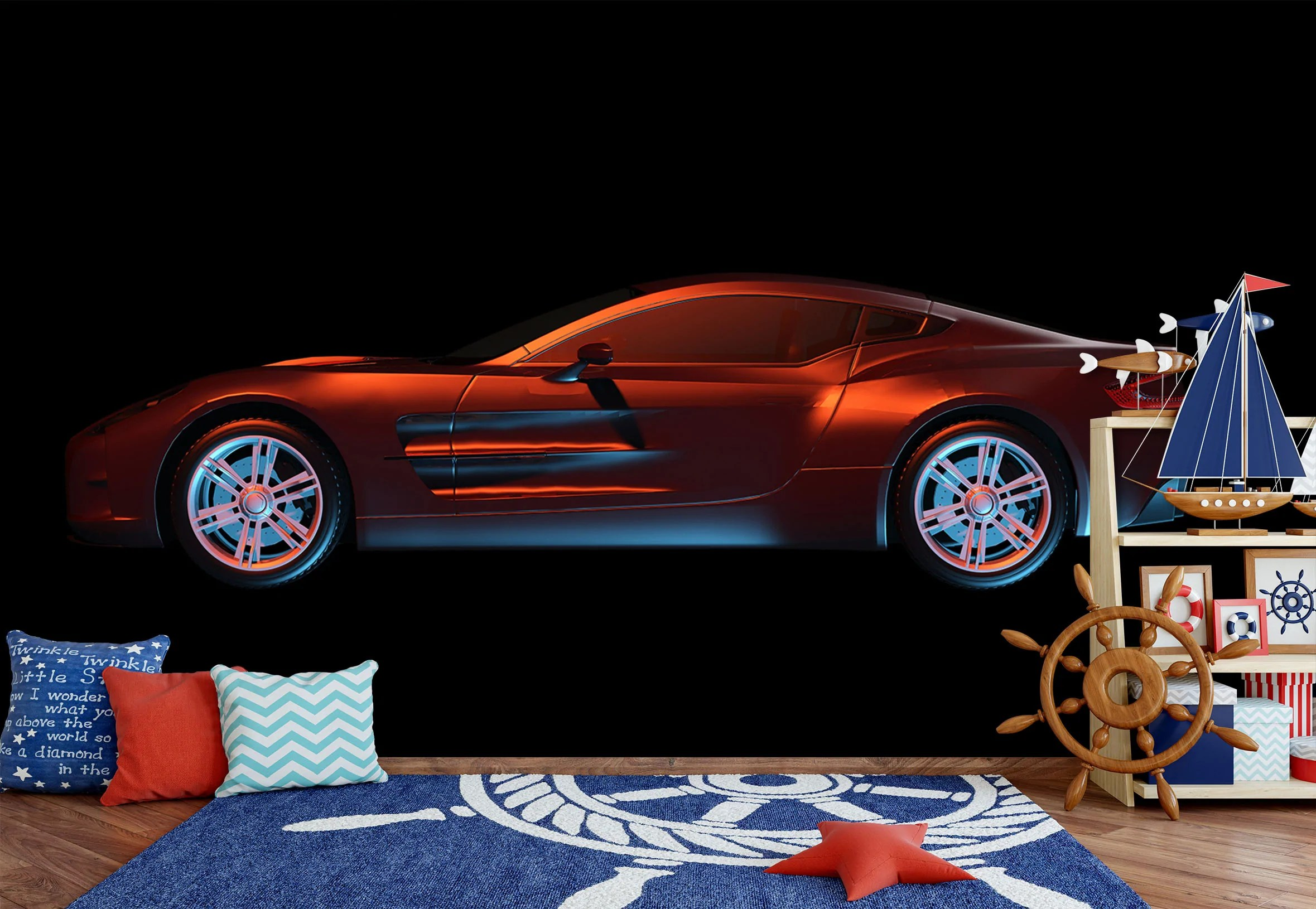 4k ultra hd classic car wallpapers. Home Decor Details About 3d Red Sports Car A100 Car Wallpaper Mural Poster Transport Wall Stickers Zoe Decor Decals Stickers Vinyl Art