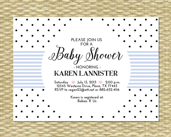 Check out our pages on baby shower invitation wording, baby shower games, push present ideas, and baby. Printable Baby Shower Invitation Polka Dot Pink White Black Baby Girl Sunshine Printables