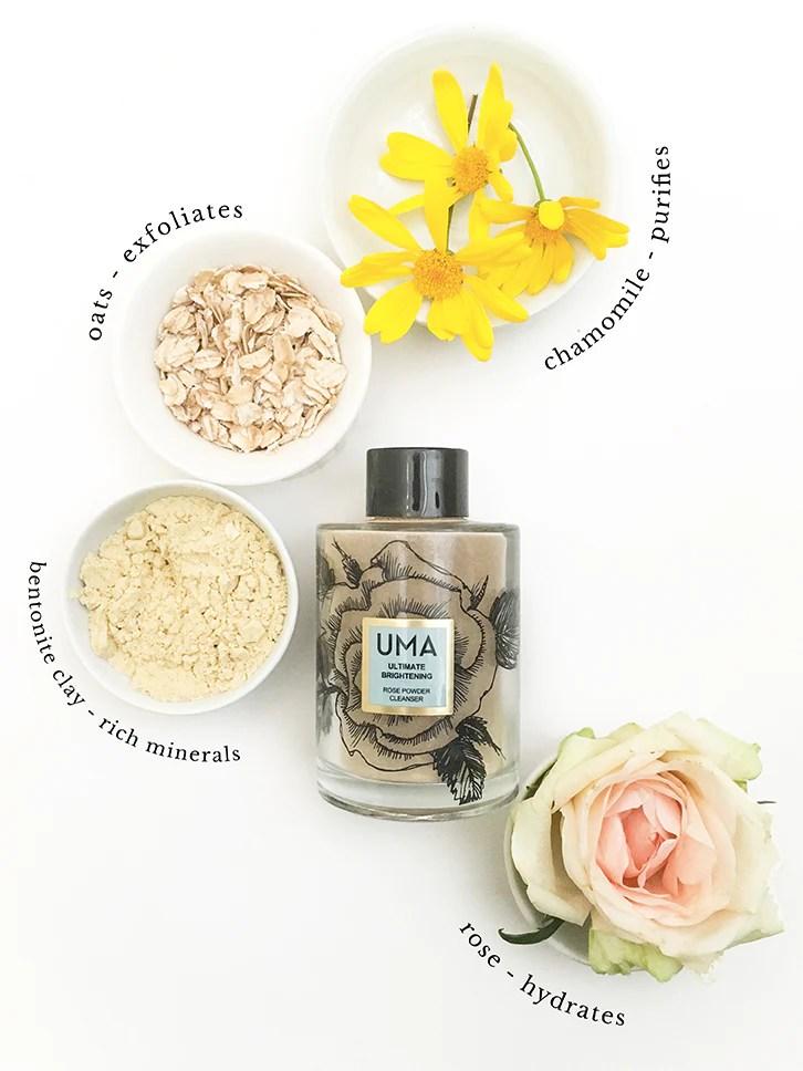 Ultimate Brightening Rose Powder Cleanser - Uma Oils