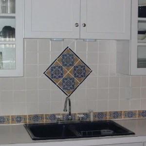 cadiz spanish tile for a kitchen