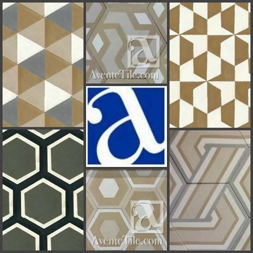 large hexagon tile avente tile