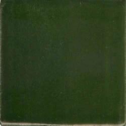 yucatan dark green hand painted plain ceramic tile