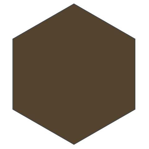 mission dark brown 8 x 9 hexagon encaustic cement tile