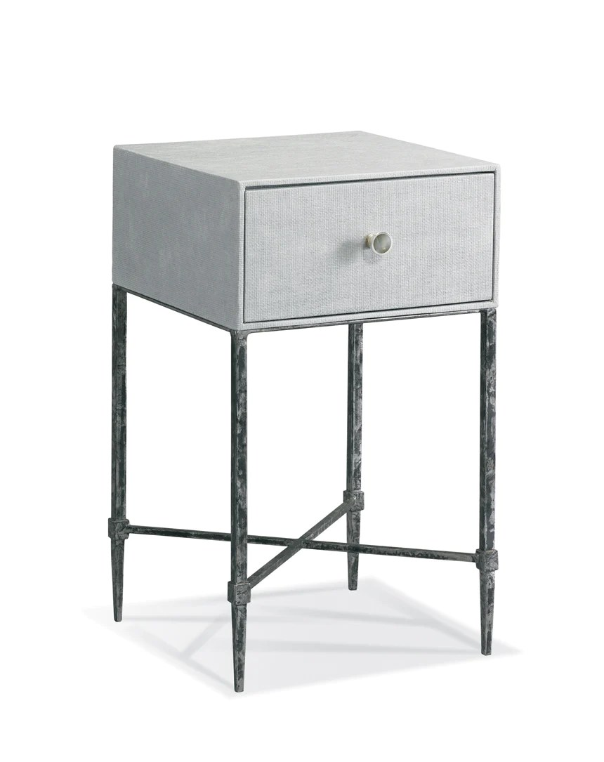 Small Bedside Table On Iron Legs