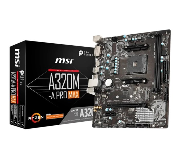 MSI A320M-A PRO MAX for AMD AM4 Socket m-ATX Motherboard – TPS Technologies
