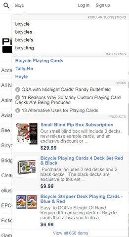 Bicycle Playing Card Deck Site Search