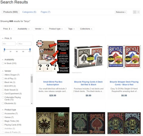 Bicycle Playing Card Decks Search Results Page