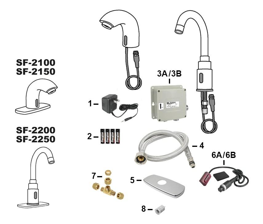 sloan electronic faucet parts sf 2100
