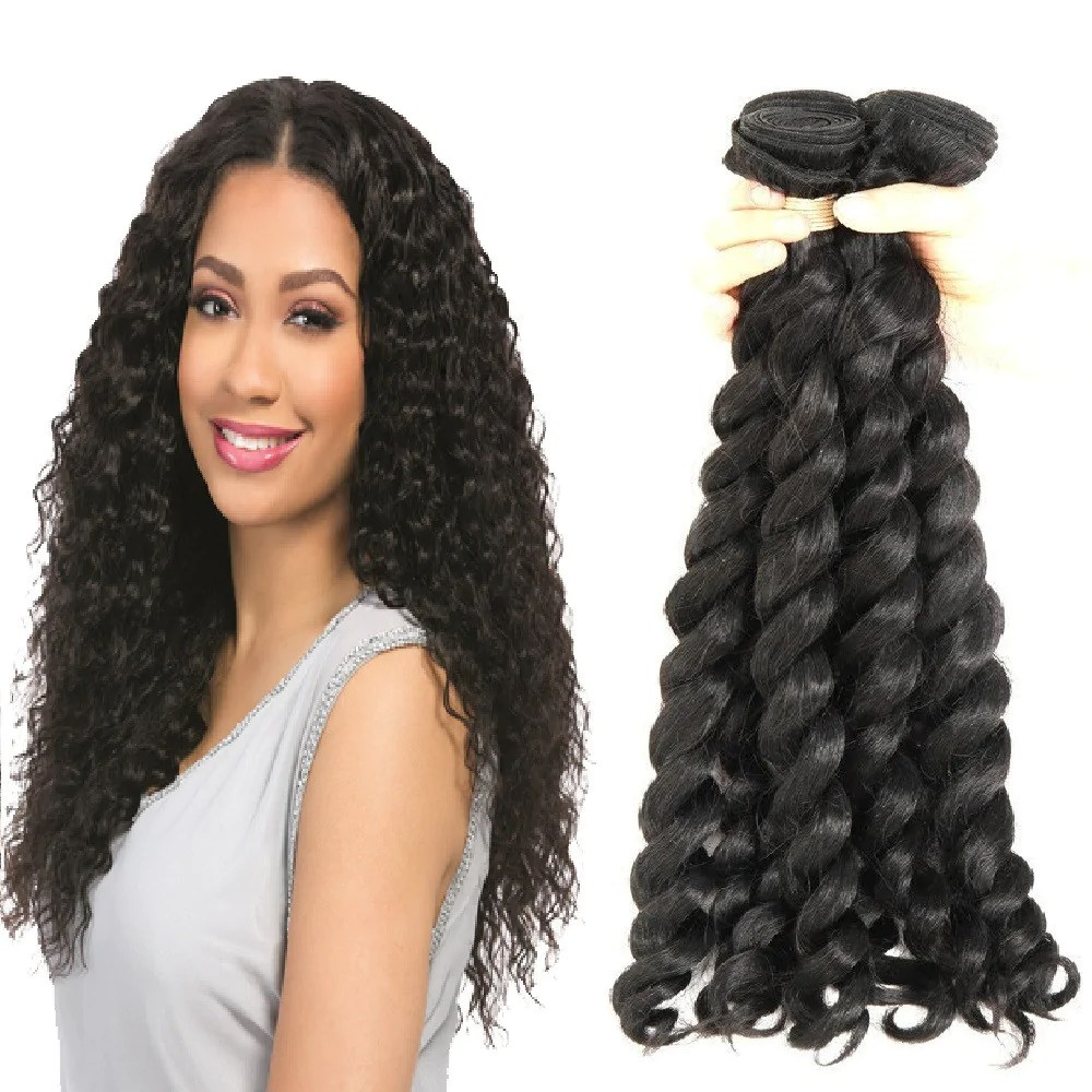 3 Bundles French Twist Curly Virgin Brazilian Hair Hairticket