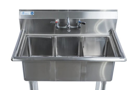stainless steel 3 compartment sink 36