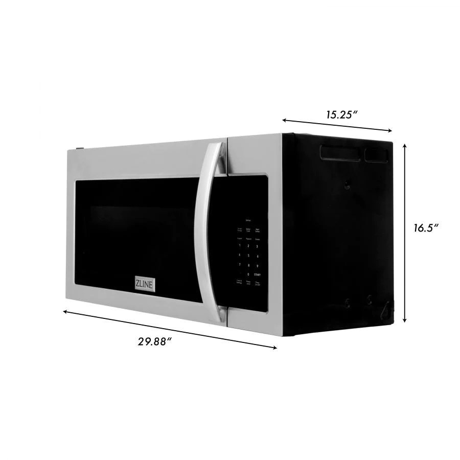 zline over the range microwave oven in stainless steel mwo otr 30
