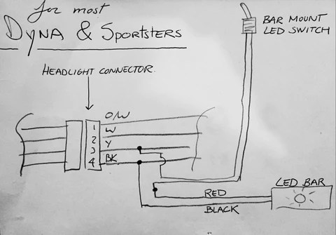 original garage moto  tech tips harley dyna led light bar