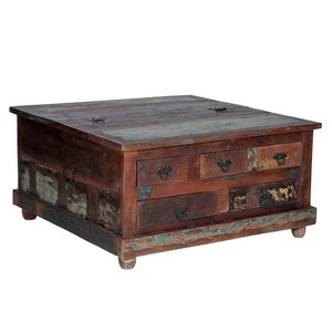 maadze rustic trunk coffee table with
