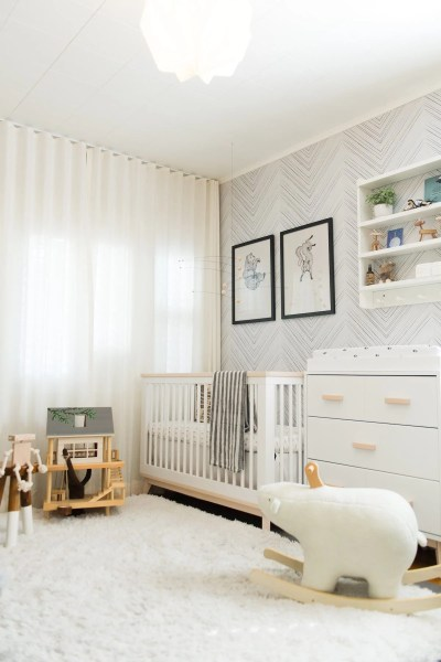 Guest Room to Scandinavian Inspired Nursery Makeover     Babyletto Darling Magazine 1 4 17 babyletto Scoot Crib and Dresser