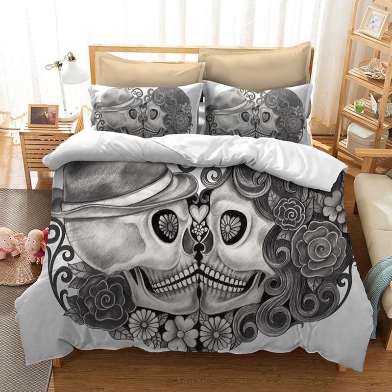 skull bedding skullflow
