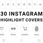 30 Instagram Story Highlight Icons White And Black Mimosa Designs