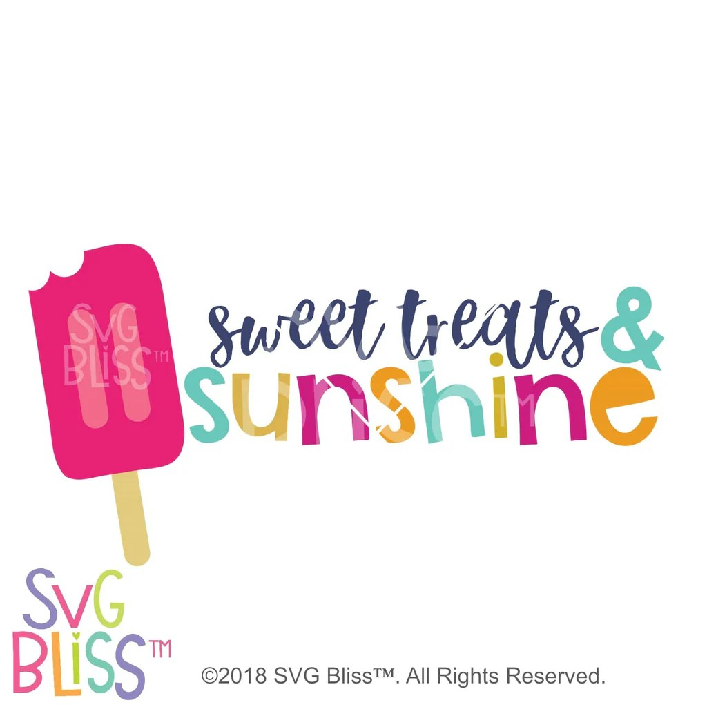 Download Sweet Treats & Sunshine SVG DXF Cutting File for Cricut ...