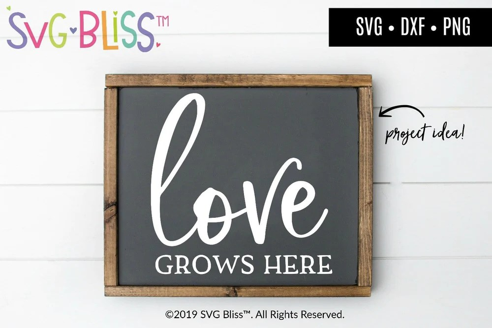 Download Love Grows Here SVG DXF | SVG Bliss™