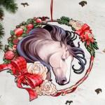 Large Buckskin Christmas Horse Wreath Classy Equine