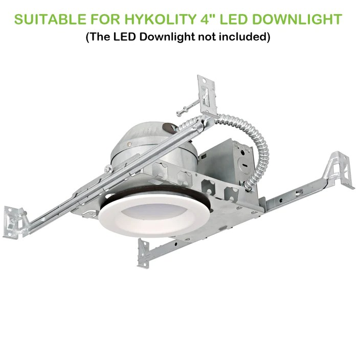 4 inch new construction recessed light can housing 12 pack shallow type airtight ic housing with tp24 connector for led downlight retrofit kit etl