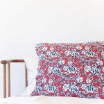 Dark Rust Navy Floral Pillow Case Cozys