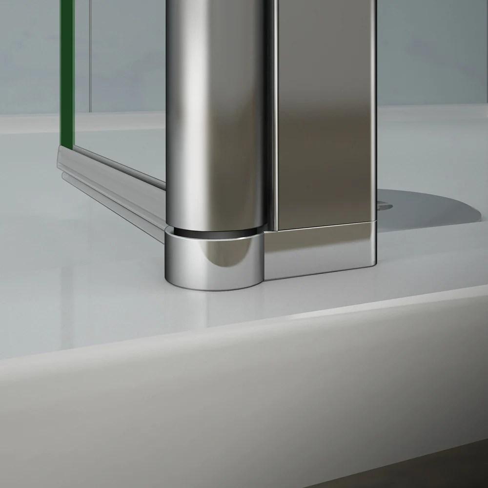 aica paroi de douche volet pivotant seul pour paroi de douche a l italienne en 8mm verre anticalcaire 30 40cm largeur disponible