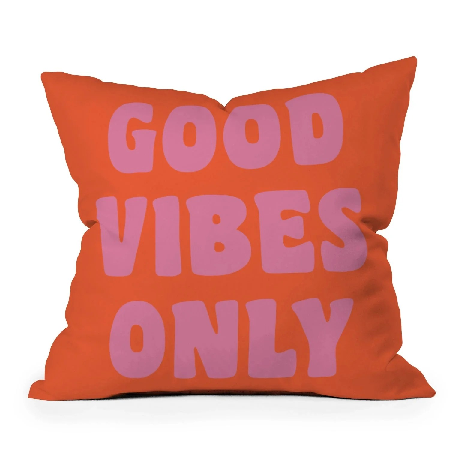 good vibes only pillow 16 x 16