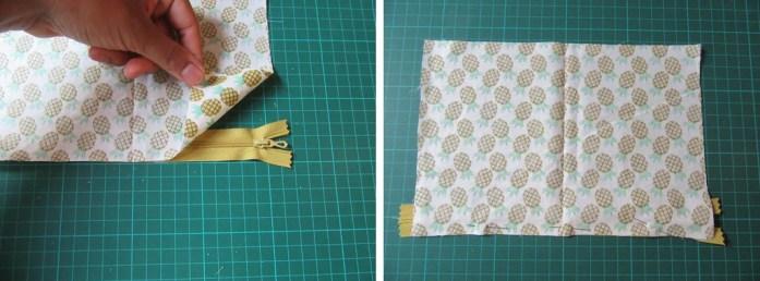DIY Couture Trousse zippée