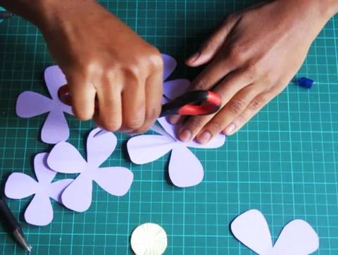 DIY Pétales en fleurs de papier