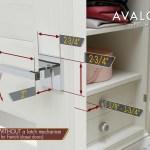 Avalon 0571 Dummy French Closet Door Handle Set Avalon Design Shop