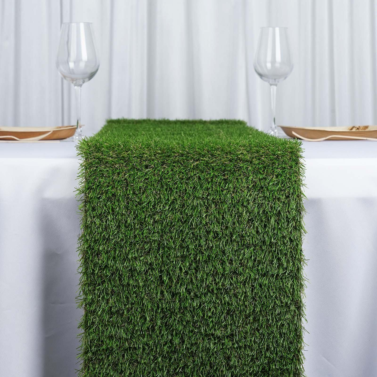 12x108 Artificial Grass Table Runner Tablecloths