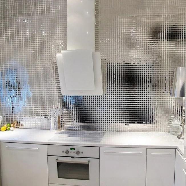 10 pack 12 x12 silver peel and stick backsplash mirror wall tiles