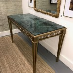 Vintage Brass And Marble Console Table Park Eighth