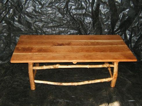 maple log coffee table rustic log furniture
