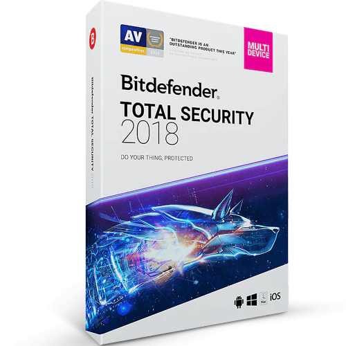 Bitdefender Total Security Download (10 Device, 1-Year Protection)