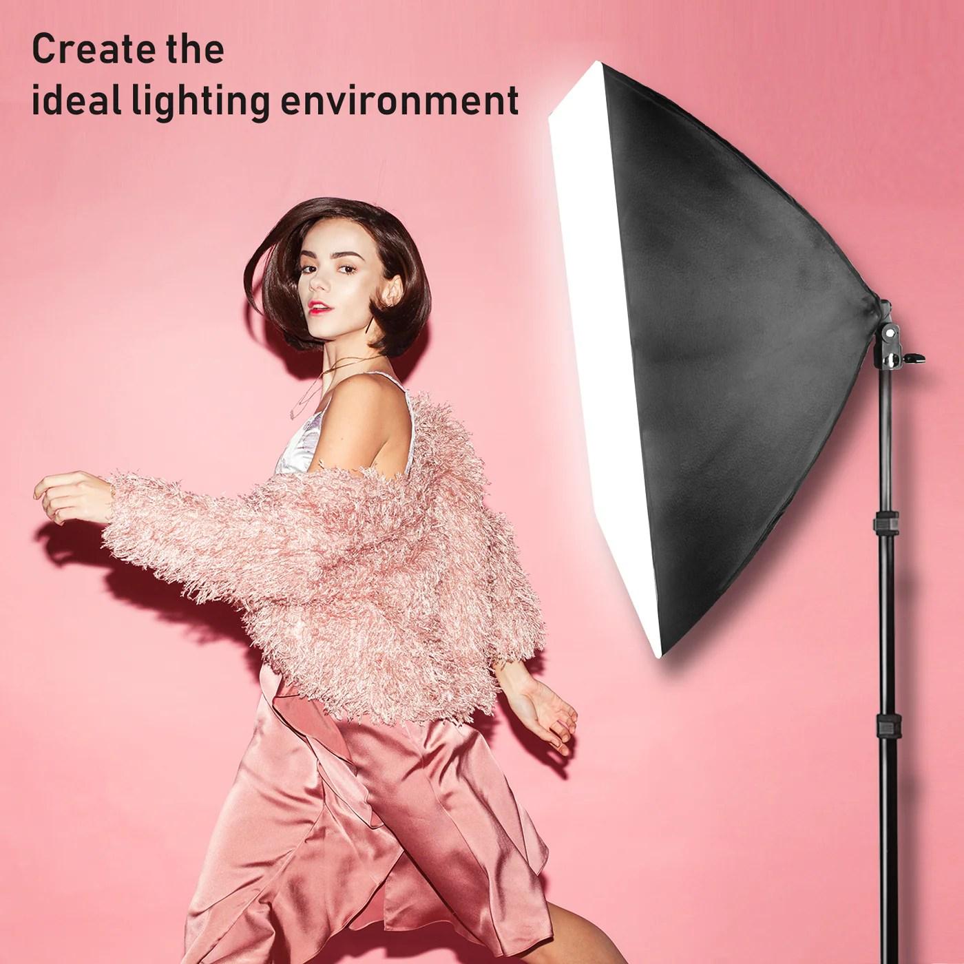 limostudio 700w photo video studio soft box lighting kit 20 x 28 inch dimension softbox light reflector with photo bulb photography studio