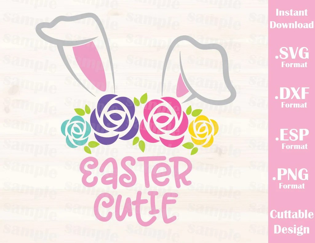 Download Easter Bunny, Easter Cutie, Baby, Kid, Cutting File in SVG ...